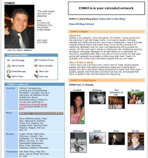 Jordan Edmund's myspace page